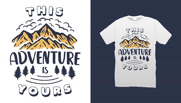 Camping cytaty projekt tshirt