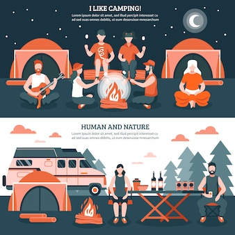 Camping in the wild banery