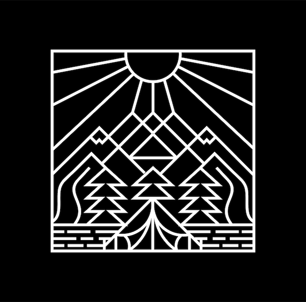 Camping logo znaczek