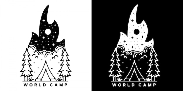 Camping monoline outdoor design