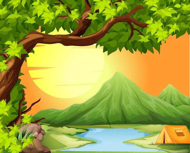 Camping na łonie natury
