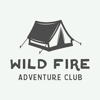 Camping outdoor i logo przygodowe