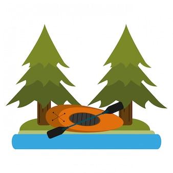 Campingowy styl życia w naturze