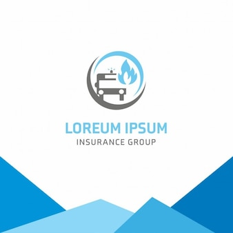 Car insurance group logo szablonu