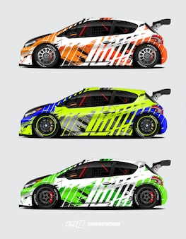 Car wrap designs for rally
