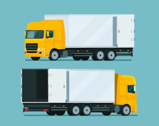 Cargo truck dwa kąt zestaw ilustracji