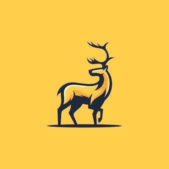Caribou koncepcja ilustracji wektorowych szablon projektu