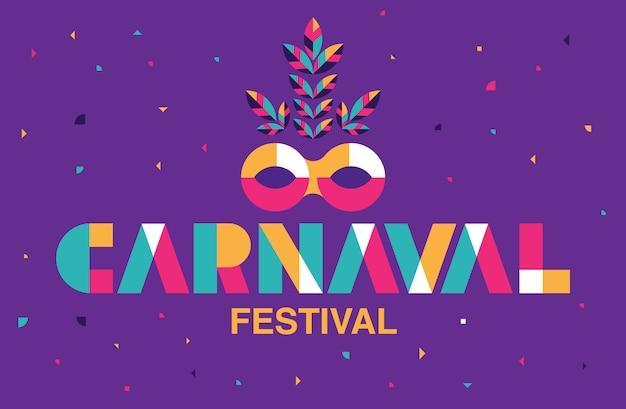 Carnaval typography, popularne wydarzenie w brazylii.