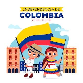 Cartoon 20 de julio - independencia de colombia illustration
