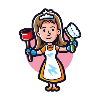 Cartoon all clean maid