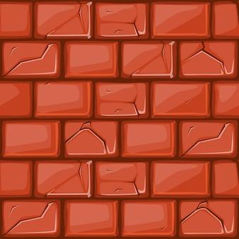 Cartoon czerwony kamień ściana tekstur