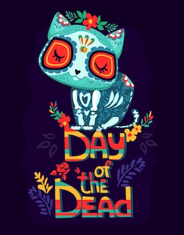 Cartoon day of the dead