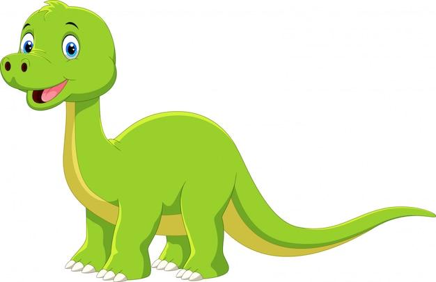 Cartoon dinozaur brontozaura