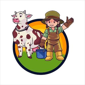 Cartoon diot farm macot