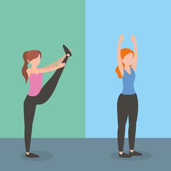 Cartoon fitness zdrowia