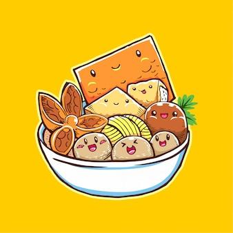Cartoon food meatball dla twojej firmy