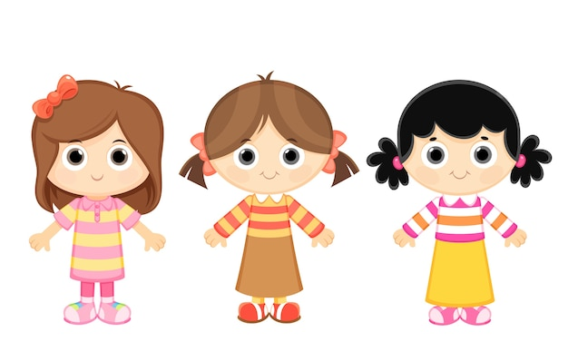 Cartoon girls