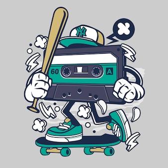 Cartoon kaseta skater