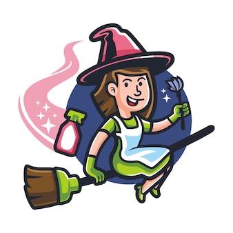 Cartoon magic maid