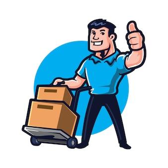 Cartoon moving guy
