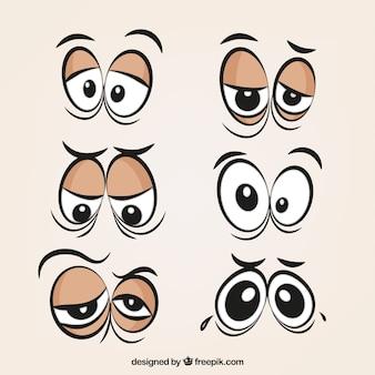 Cartoon oczy paczka