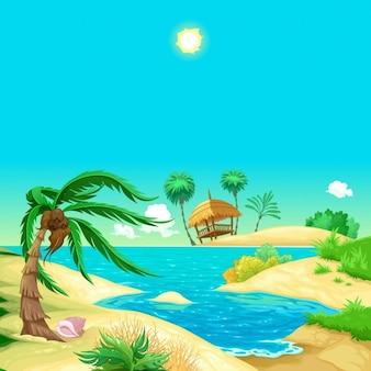 Cartoon plaży