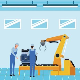 Cartoon produkcji samochodów przemysłu