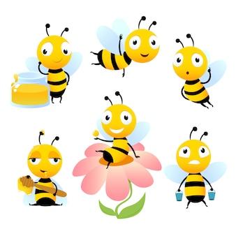 Cartoon pszczół.
