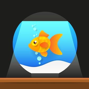 Cartoon słodkowodne ryby