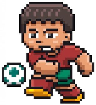 Cartoon soccer player - pixel design