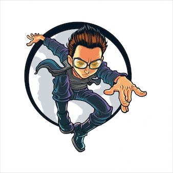 Cartoon stealth hero