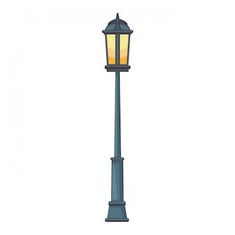 Cartoon streetlight na białym tle