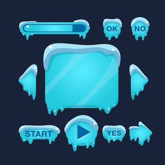 Cartoon winter game interfejs użytkownika