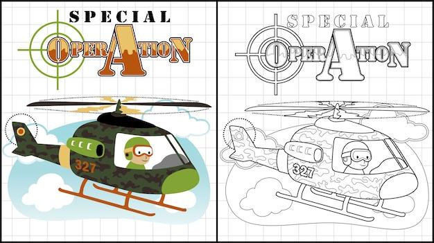 Cartoon wojskowych helikopterów