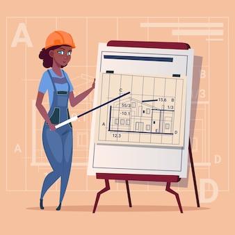 Cartoon woman builder