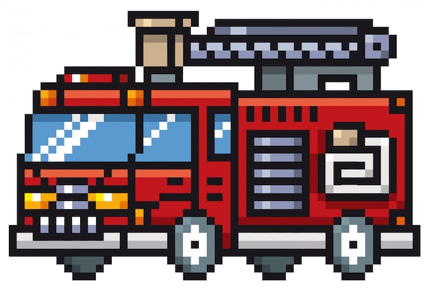 Cartoon wóz strażacki