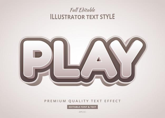Cartoon zagraj w grę efekt tekstowy