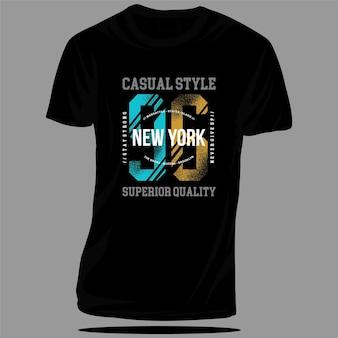 Casual active new york sport graficzny t shirt design typografia wektor