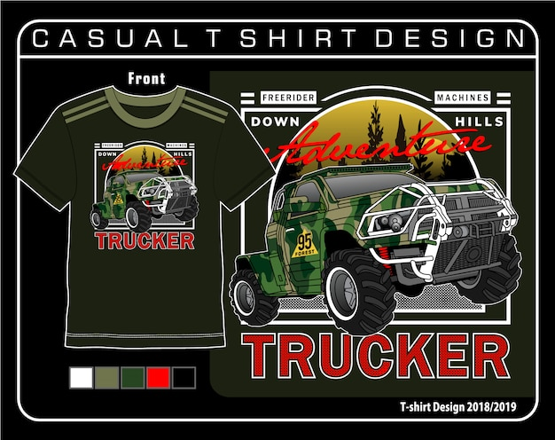 Casual t shirt graficzny