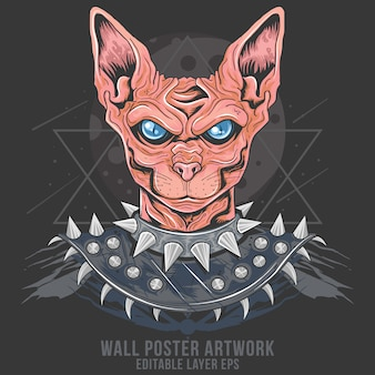 Cat punk rider egypt metal rocker