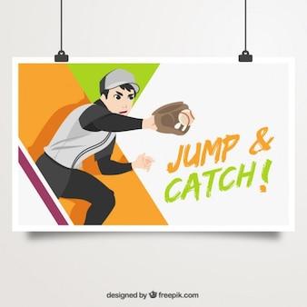 Catcher ilustracji plakatu