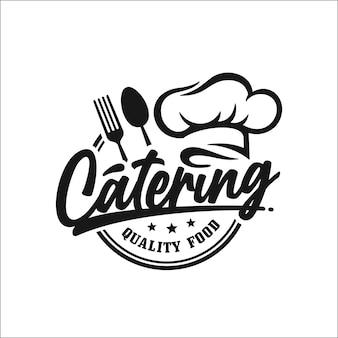 Catering jakości logo projektowania żywności