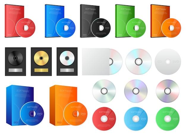 Cd i dvd, na białym tle
