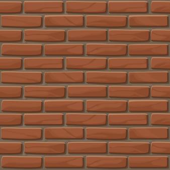 Ceglana ściana tekstura bez szwu. ilustracja ściana kamienie w kolorze czerwonym. wzór