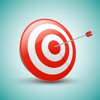 Cel ze strzałką. koncepcja sukcesu w biznesie.