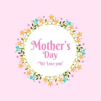 Celebracja dzień kwiatowy matki