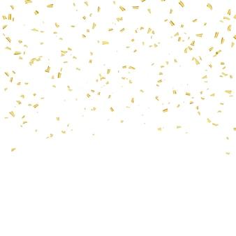 Celebracja konfetti i złote wstążki.