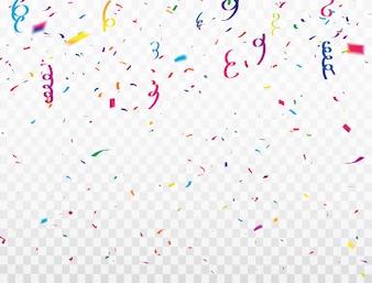 Celebracja konfetti wstążki ramki. luksusowe powitanie bogata karta.