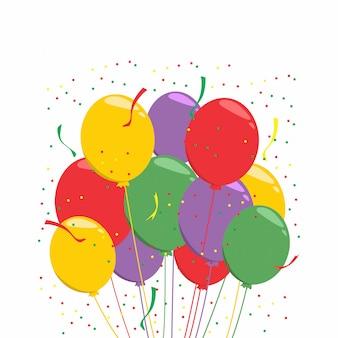 Celebracja płaskie kolorowe balony