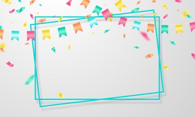 Celebracja ramki transparent tło